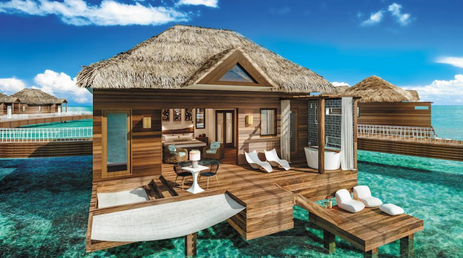 sandals resort over the water bungalows jamaica new suites
